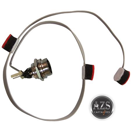 Chicote Microfone Das Teclas Completo Modelo ZS-103EX Com 3 Microfones