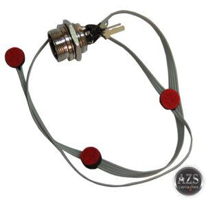 Chicote Microfone Das Teclas Completo Modelo ZS-102EX Com 3 Microfones